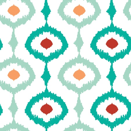 Colorful chain ikat seamless pattern background