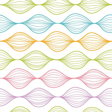 Colorful horizontal ogee seamless pattern background Vector