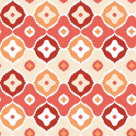 Golden ikat geometric seamless pattern background Vector