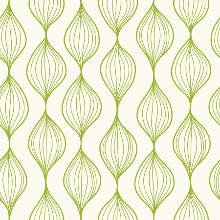 Green vertical ogee seamless pattern background