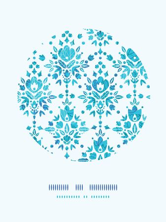 Abstract Flower Damask Circle Decor Pattern Background photo