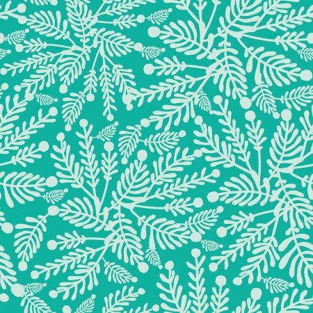 Emerald green plants seamless pattern background