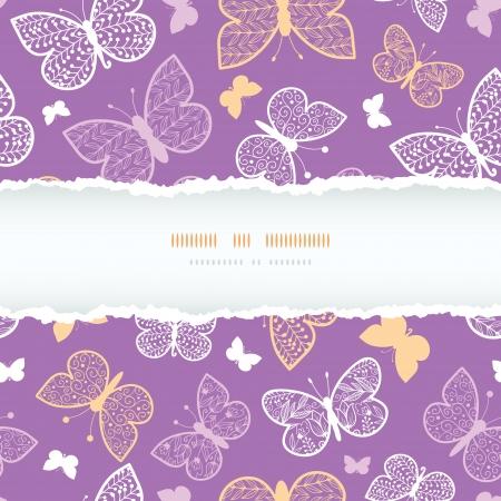 Night butterflies torn frame seamless pattern background template Stock Vector - 20184943