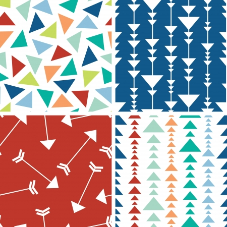 Arrows and triangles seamless pattern background Vector