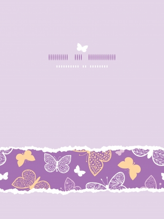 Night butterflies torn frame horizontal seamless pattern background template Stock Vector - 20184960