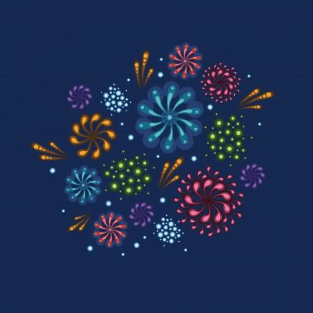 Holiday fireworks illustration Stock Vector - 20184961