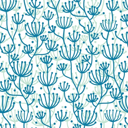 Lineart texture plants seamless pattern background Stock Vector - 20184959