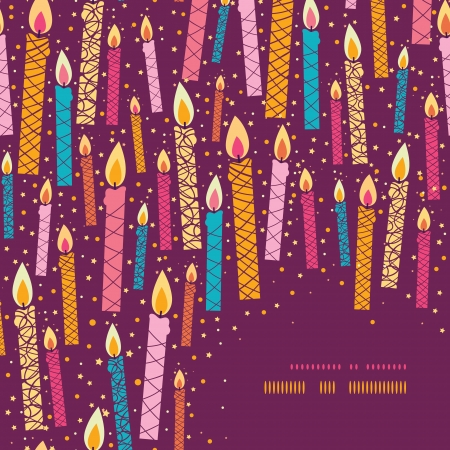 Vector colorful birthday candles corner frame background