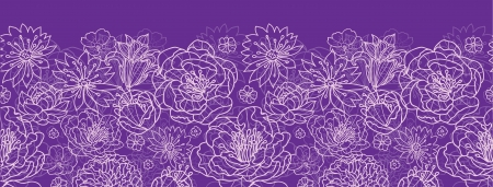 Purple lace flowers horizontal seamless pattern background border Stock Vector - 20342034