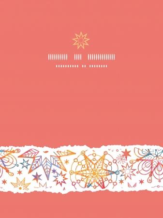 Textured Christmas Stars Vertical Torn Seamless Pattern Background Illustration