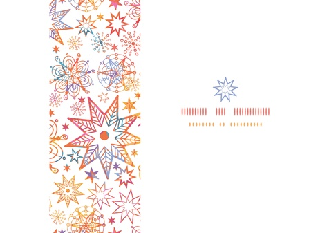 Textured Christmas Stars Horizontal Seamless Pattern Background Stock Vector - 20342039
