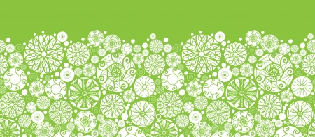 Abstract green and white circles horizontal seamless pattern background Stock Vector - 20342049