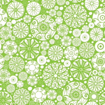 wheal: Abstract green and white circles seamless pattern background