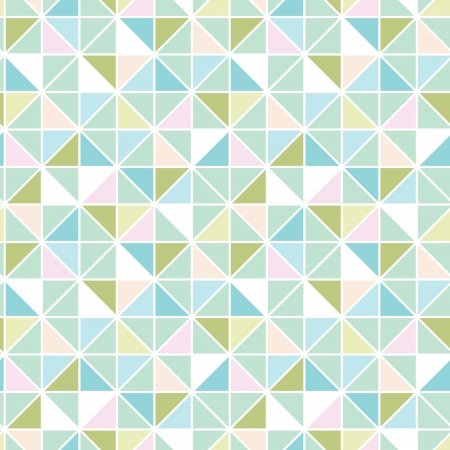 Colorful pastel triangle texture seamless pattern background Vector