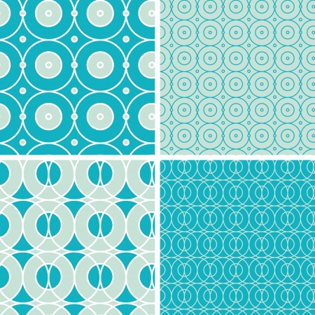 Abstract geometric circles seamless patterns set Stock Vector - 20610131