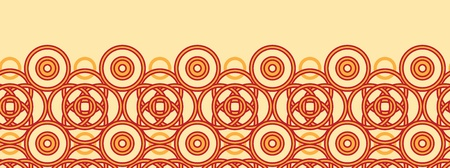 celtic background: Magical celtic circles horizontal seamless pattern background