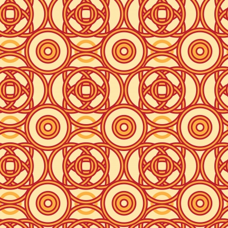 celts: Magical celtic circles seamless pattern background Illustration