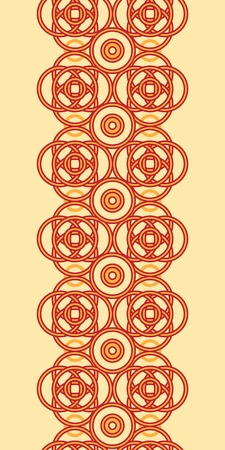 celtic background: Magical celtic circles vertical seamless pattern background