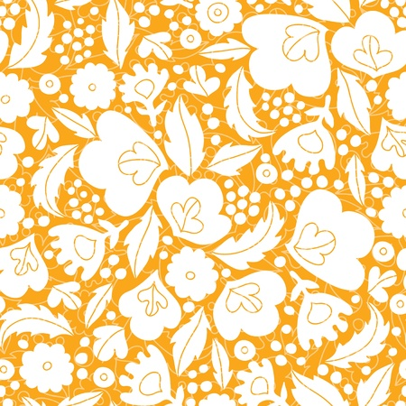 Gold and white floral silhouettes seamless pattern background Stock Vector - 20610100