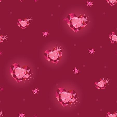 ruby: Ruby heart diamonds seamless pattern background