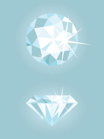 unbreakable: Set of two shiny diamonds Stock Photo