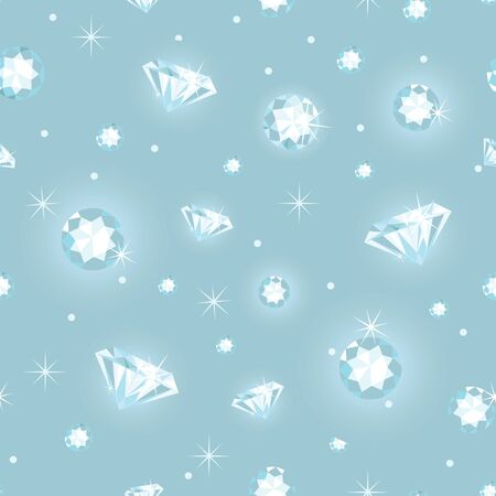 Beautiful diamonds seamless pattern background photo