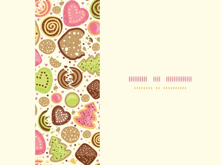Colorful cookies horizontal seamless pattern background
