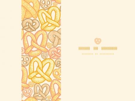 Pretzels horizontal seamless pattern background