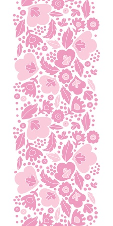 Soft pink floral silhouettes vertical seamless pattern background photo