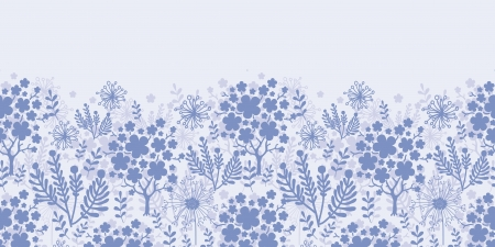 Evening garden horizontal seamless pattern background Vector