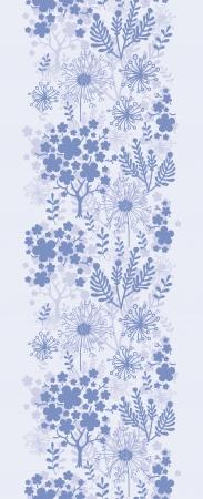 vertical garden: Evening garden vertical seamless pattern background