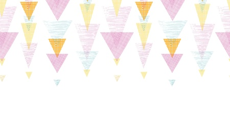 Overlayed triangles stripes horizontal seamless pattern background photo