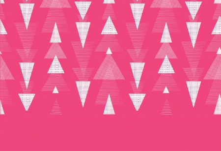 Pink and white ikat triangles stripes horizontal seamless pattern background photo