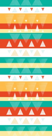 Vibrant ikat stripes vertical seamless pattern background photo