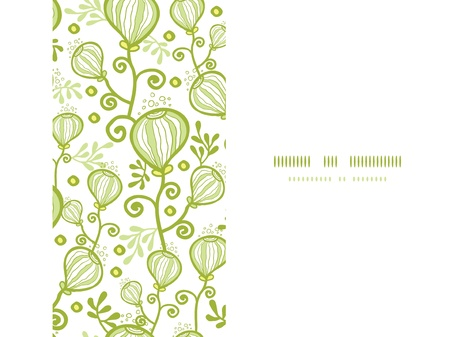 Underwater abstract plants horizontal seamless pattern background Stock Photo - 20892729