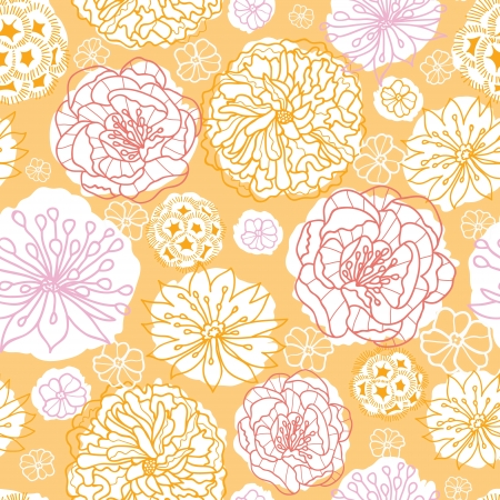 Warm day flowers seamless pattern background Stock Vector - 20892751
