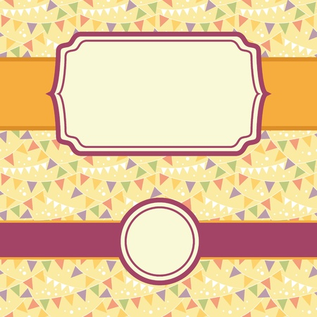 Frames On Party Bunting Seamless Pattern Background Set photo