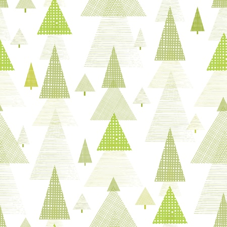Abstract pine tree forest seamless pattern background Stock Photo