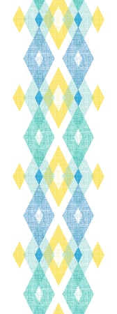 Colorful fabric ikat diamond vertical seamless pattern background photo
