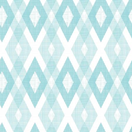 Pastel blue fabric ikat diamond seamless pattern background Standard-Bild