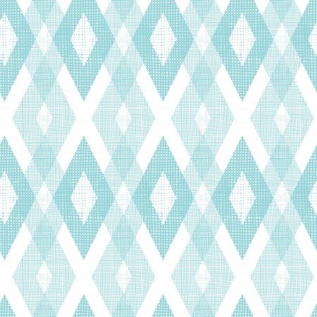 Pastel blue fabric ikat diamond seamless pattern background Imagens