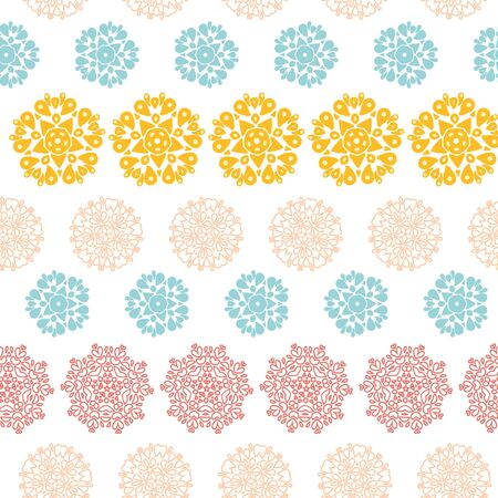 Vector abstract decorative circles stars striped seamless pattern background with many hand drawn ornamental oval shapes photo
