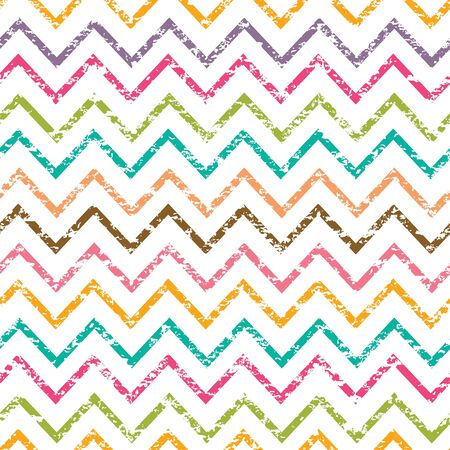 Vector colorful grunge chevron seamless pattern background Stock Photo - 26393473