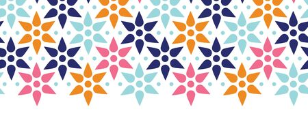 vector abstract colorful stars seamless pattern background horizontal border photo