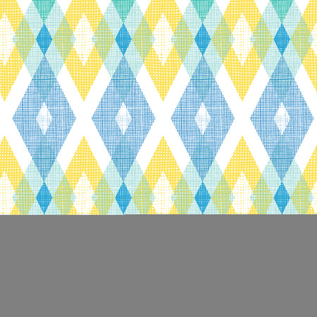 Vector colorful fabric ikat diamond seamless pattern background with hand drawn elements photo