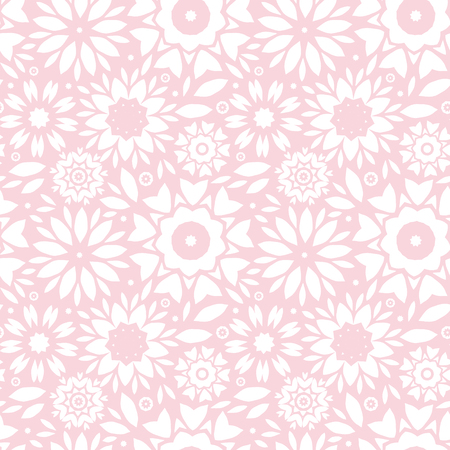 vector light pink abstract flowers seamless pattern background photo