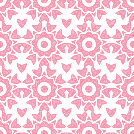 vector abstract pink repeat geometrical seamless pattern background photo