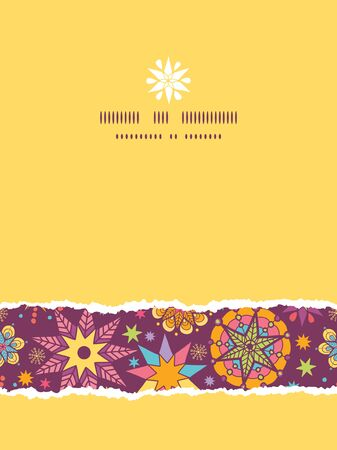 vector colorful stars vertical seamless pattern background template photo