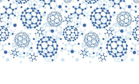 Moléculas azules del vector textura horizontal sin problemas de fondo en colores pastel Foto de archivo - 26394317