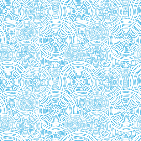 Vector doodle circle water texture seamless pattern background with hand drawn elements photo